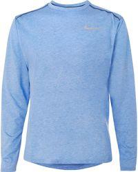 Nike - Rise 365 Mesh-panelled Dri-fit T-shirt - Lyst