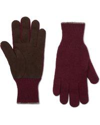 Brunello Cucinelli - Wool And Suede Gloves - Lyst