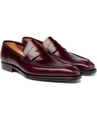 George Cleverley - George Leather Penny Loafers - Lyst