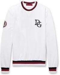 Dolce & Gabbana - Printed Loopback Cotton-blend Sweatshirt - Lyst