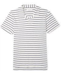 Orlebar Brown - Felix Striped Cotton-jersey Polo Shirt - Lyst