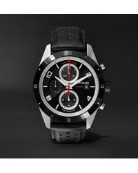 Montblanc - Timewalker Automatic Chronograph 43mm Stainless Steel, Ceramic And Leather Watch - Lyst