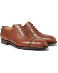 George Cleverley - Adam Full-grain Leather Oxford Brogues - Lyst