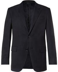 Ermenegildo Zegna - Navy 10-pocket Stretch Wool And Silk-blend Blazer - Lyst
