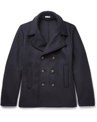 Tomas Maier - Felted Wool-blend Peacoat - Lyst