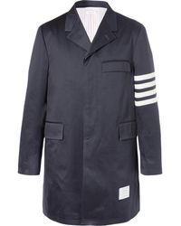 Thom Browne - Striped Cotton-twill Chesterfield Coat - Lyst