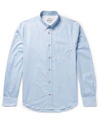 7ef42887bf2 Acne Studios - Isherwood Button-down Collar Striped Cotton-poplin Shirt -  Lyst