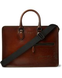 Berluti | Gloria Polished-leather Briefcase | Lyst