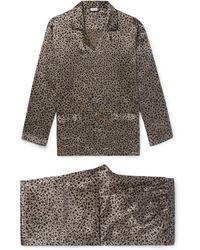 Zimmerli - Printed Silk-satin Pyjama Set - Lyst