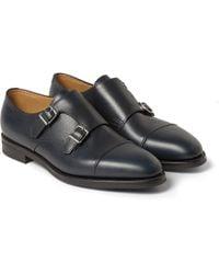 John Lobb - William Ii Full-grain Leather Monk-strap Shoes - Lyst