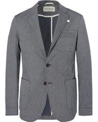 Oliver Spencer - Navy Theobald Unstructured Striped Stretch-cotton Blazer - Lyst