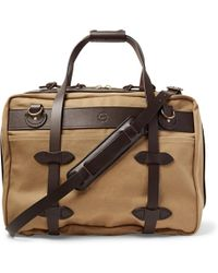 Filson - Pullman Leather-trimmed Twill Holdall - Lyst