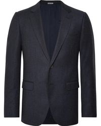 Lanvin - Navy Attitude Slim-fit Wool And Cashmere-blend Suit - Lyst