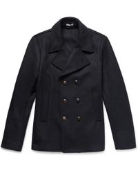 Tomas Maier - Double-breasted Wool-blend Felt Peacoat - Lyst