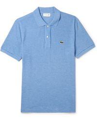 Lacoste - Mélange Cotton-piqué Polo Shirt - Lyst