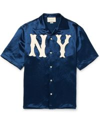 Gucci - GG Ny Yankees Bowling Shirt - Lyst