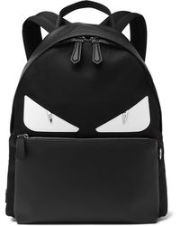 Fendi - Bag Bugs Nylon And Leather Backpack - Lyst