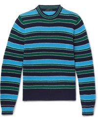Prada - Striped Virgin Wool And Cashmere-blend Jumper - Lyst
