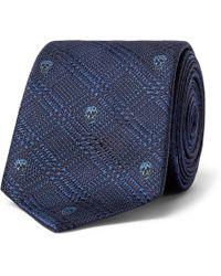Alexander McQueen - 6cm Silk-jacquard Tie - Lyst