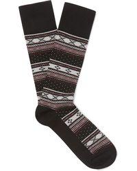 Polo Ralph Lauren - Fair Isle Stretch Cotton-blend Jacquard Socks - Lyst