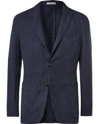 Boglioli - Navy Unstructured Linen Suit Jacket - Lyst