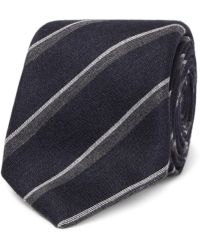 Canali - 8cm Striped Silk And Cashmere-blend Tie - Lyst