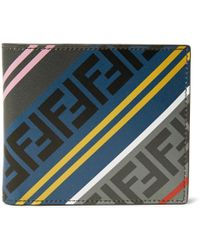 Fendi - Grey And Multicolour Forever Bifold Wallet - Lyst
