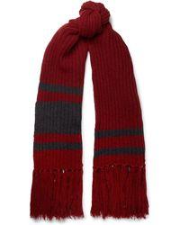 Balenciaga - Fringed Virgin Wool Scarf - Lyst