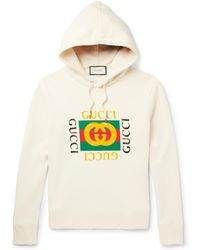 Gucci | Printed Loopback Cotton-jersey Hoodie | Lyst