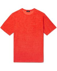 Theory - Structure Pima Cotton-terry T-shirt - Lyst