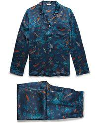 Derek Rose - Brindisi 28 Printed Silk Pyjama Set - Lyst