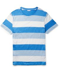 Orlebar Brown - Sammy Slim-fit Striped Cotton-jersey T-shirt - Lyst