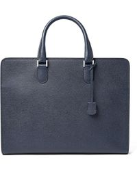 Valextra | Pebble-grain Leather Briefcase | Lyst
