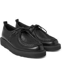 Hender Scheme - Tirolean Mesh-trimmed Leather Derby Shoes - Lyst