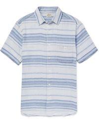 Faherty Brand - Ventura Striped Cotton Shirt - Lyst