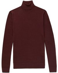 Boglioli - Slim-fit Mélange Wool Rollneck Jumper - Lyst