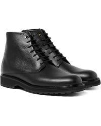 Want Les Essentiels De La Vie - Montoro Pebble-grain Leather Boots - Lyst