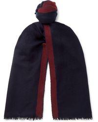 Lanvin - Striped Cashmere And Silk-blend Scarf - Lyst