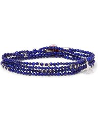 Isaia - Saracino Sterling Silver Beaded Wrap Bracelet - Lyst