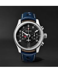Bremont - Mkii Jaguar 43mm Stainless Steel And Alligator Watch - Lyst