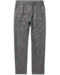 Incotex - Slim-fit Virgin Wool And Cotton-blend Trousers - Lyst
