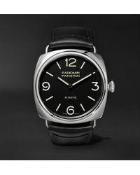 Officine Panerai - Radiomir Black Seal 8 Days 45mm Stainless Steel And Leather Watch - Lyst