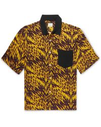 Aries - Camp-collar Printed Woven Shirt - Lyst