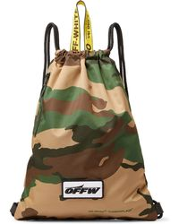 Off-White c/o Virgil Abloh - Camouflage-print Shell Drawstring Backpack - Lyst