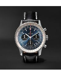 Breitling - Navitimer 1 B01 Chronometer 43mm Stainless Steel And Alligator Watch - Lyst