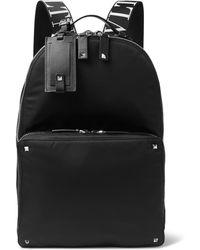 Valentino - Garavani Logo-jacquard Webbing And Leather-trimmed Nylon Backpack - Lyst