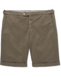 Thom Sweeney - Slim-fit Cotton-blend Twill Shorts - Lyst