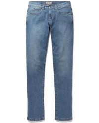 Loro Piana - Tasche Slim-fit Washed-denim Jeans - Lyst