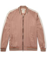 Remi Relief - Striped Twill Bomber Jacket - Lyst