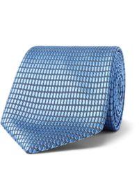 Ermenegildo Zegna - 7cm Silk-jacquard Tie - Lyst